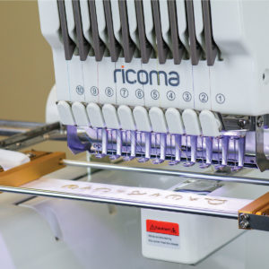 Ricoma belt hoop on a machine